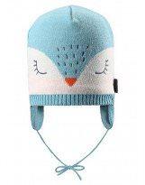 Теплая зимняя голубая шапка Lassie 718722 - Ласси by Reima