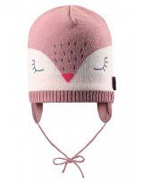 Теплая зимняя розовая шапка Lassie 718722 - Ласси by Reima