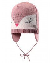 Теплая зимняя розовая шапка Lassie 718722 | Ласси by Reima