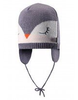 Теплая зимняя серая шапка Lassie 718722 | Ласси by Reima
