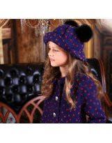 Шерстяная шляпка с натуральными помпонами  MONE / МОНЕ