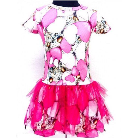 Хлопковое платье для девочки Lenne ROSIE 18619