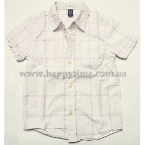Рубашка белая в клеткуZARA kids