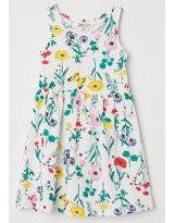 Летнее хлопковое платье с цветочным рисунком H&M