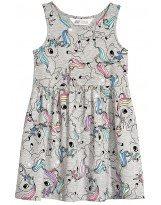 Летнее хлопковое платье с единорогами H&M