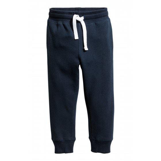 Спортивные теплые брюки синего цвета для мальчика H&M