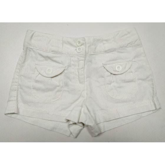 Льняные короткие белые шорты для девочки Mix - Микс