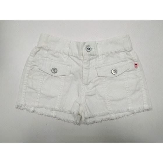 Льняные белые шорты с бахромой Motion - Моушен