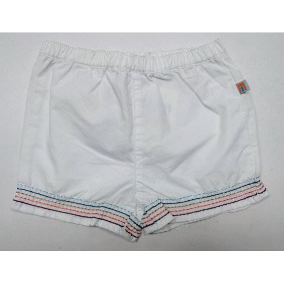 Хлопковые белые шорты на резинке Motion - Моушен