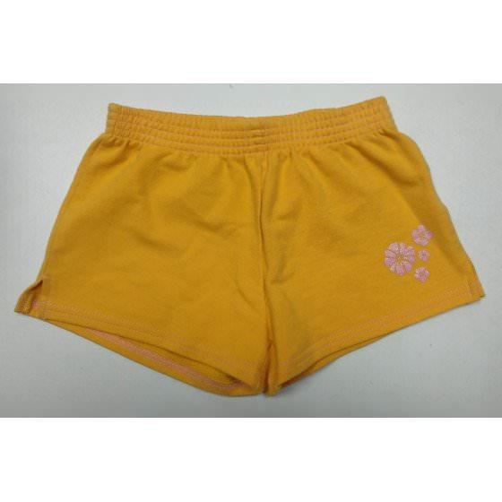 Хлопковые оранжевые свободные шорты Mix - Микс