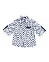 Хлопковая рубашка с морским принтом для мальчика Flash/Флеш