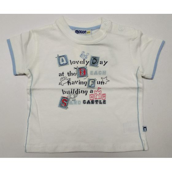 Летняя белая хлопковая футболка Motion/Моушен