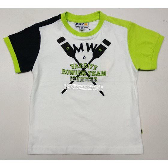Летняя хлопковая белая футболка Motion/Моушен