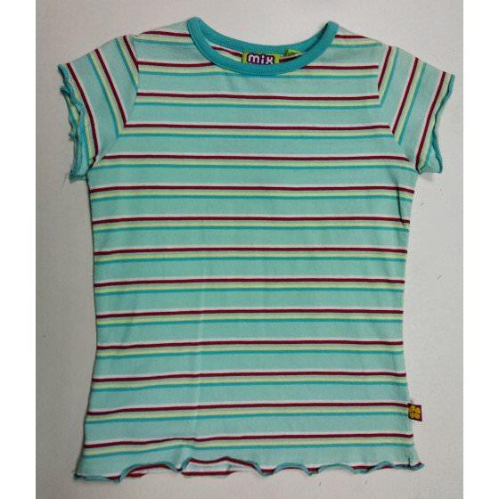 Хлопковая летняя футболка для девочки Mix/Микс