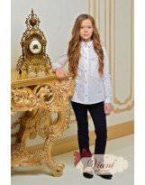 Школьная белая рубашка - блузка Viani / Виани / Модные Детки