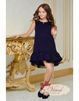 Синее платье с воланом для школы Viani / Виани