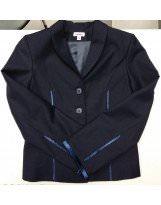 Пиджак школьный для девочки темно-синий Frantolino/Франтолино