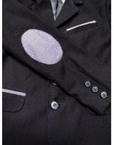 Пиджак школьный темно-синий со вставками Frantolino/Франтолино