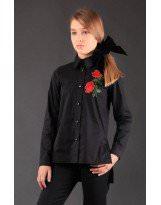 Черная школьная рубашка блуза MONE / МОНЕ