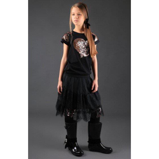 Черная футболка MONE / МОНЕ 1611-3