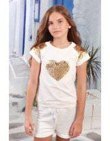 Белая футболка MONE / МОНЕ 1611-1