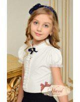 Блуза белая школьная с коротким рукавом Viani / Виани / Модные Детки