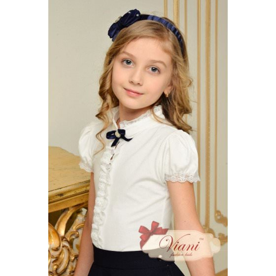 Блуза школьная с коротким рукавом Viani / Виани / Модные Детки