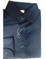 Темно-синяя фактурная рубашка с длинным рукавом Bebepa