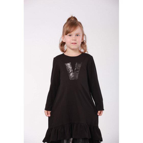 Платье черное трикотажное для школы Viani / Виани