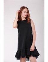 Платье черное с воланом для школы Viani / Виани
