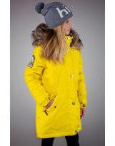 Парка зимняя желтая Lenne - Ленне куртка ESTELLA 18671