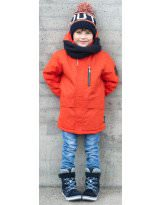 Куртка парка оранжевая зимняя удлиненная - LASSIE BY REIMA 721737_3790