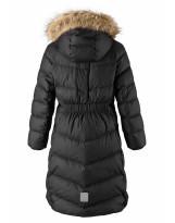 Удлиненное черное зимнее пальто - пуховик Reima Satu 531302/9990