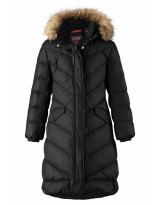 Удлиненное черное зимнее пальто - пуховик Reima Satu 531302