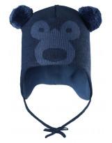 Шапка-бини зимняя с завязками Reima - Рейма 518470 Мишка