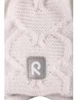 Зимняя шерстяная белая шапка бини с завязками Reima - Рейма 518475