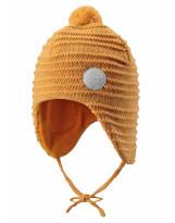 Желтая шапка-бини зимняя с завязками Reima - Рейма 518480