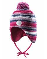 Малиновая шапка-бини зимняя с завязками Reima - Рейма 518480