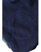 Зелёно-голубая шапка-бини зимняя с завязками Reima - Рейма 518480