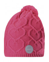 Розовая зимняя шапка-бини Reima - Рейма Naasko 528599
