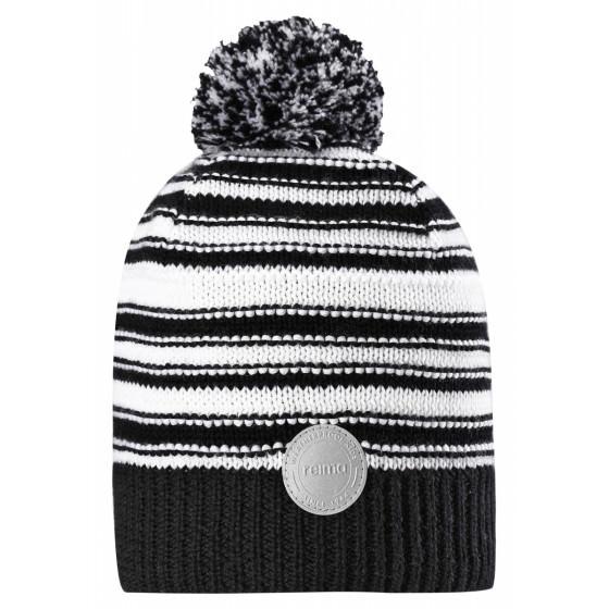 Черно-белая шапка-бини Reima - Рейма Hurmos 528608-9991