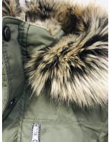 Парка хаки зимняя Lenne - Ленне куртка WOODY 18368/330
