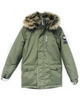 Парка хаки зимняя Lenne - Ленне куртка WOODY 18368
