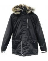 Парка черная зимняя Lenne - Ленне куртка WOODY 18368