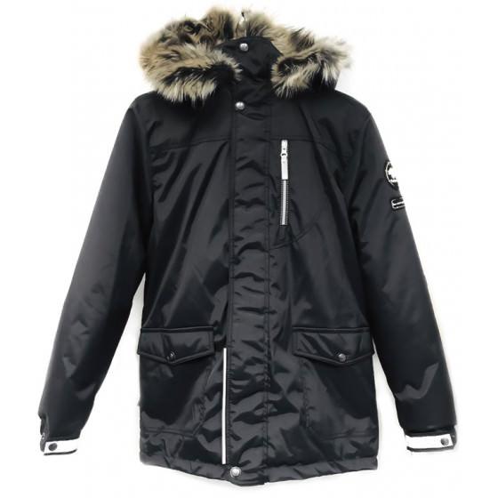 Парка черная зимняя Lenne - Ленне куртка WOODY 18368/042