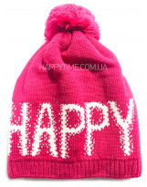 Зимняя HAPPY малиновая теплая шапка Lenne - Ленне RICA 18389