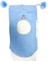 Шерстяной голубой зимний шлем Лисичка Kivat - Киват 455/60 Police car