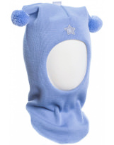 Шерстяной голубой зимний шлем Лисичка Kivat - Киват