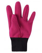 Малиновые флисовые перчатки Reima рукавицы Osk 527279