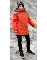 Парка оранжевая зимняя Lenne - Ленне куртка WOODY 18368-455